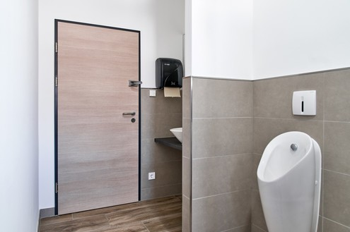 Toilettentüren haben die Gründer auf die Idee gebracht