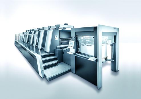 Moderne Druckmaschine