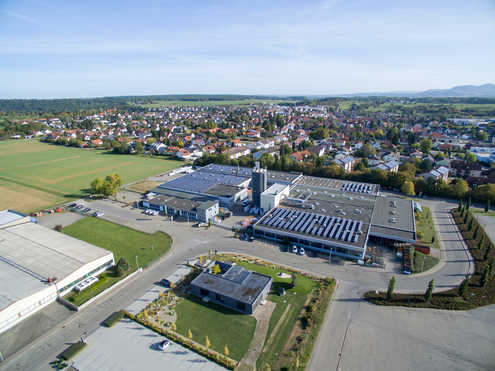 Der Firmensitz liegt in Bodelshausen, im südlichen Landkreis Tübingen