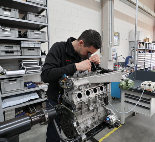 Motorenbau bei Spiess