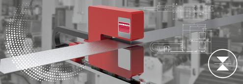 Die Dickenmess-Systeme von Roland Electronic (hier: LTM Ultra) können unterschiedlichste Materialien mit sehr hoher Genauigkeit vermessen – bis in den µm-Bereich.